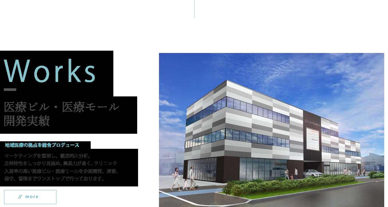 医療ビル・医療モールの開発実績|地域医療の拠点を総合プロデュース