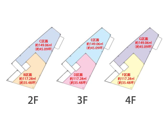 堺七道クリニックビル区画図2