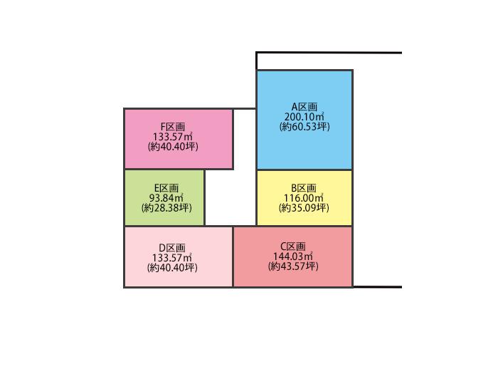 JR星田駅前商業施設計画2 区画図